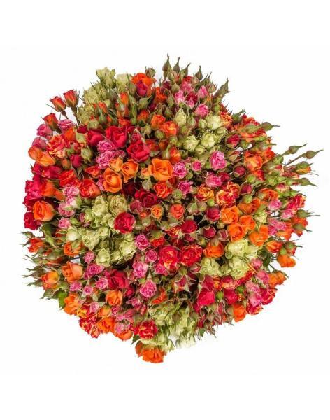 Букет из кустовой розы для девушки