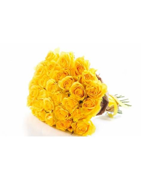Bouquet of 29 yellow roses: delivery of flowers in