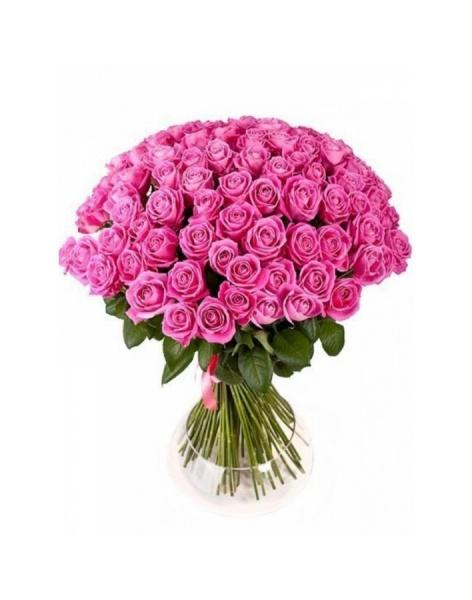 Bouquet of 77 pink roses: delivery of flowers in