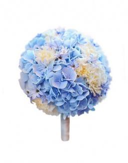 Bouquet of 15 blue hydrangeas | Delivery and order flowers in Aktobe
