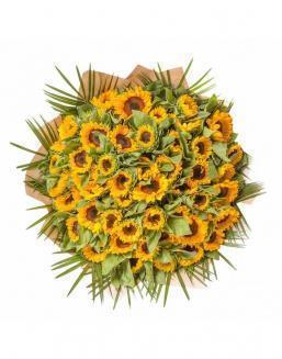 Bouquet of 51 sunflowers | Sunflowers