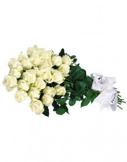 Bouquet of 15 white roses | Delivery and order flowers in Aktobe