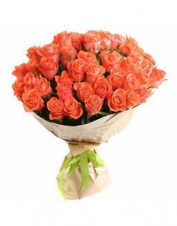 Bouquet of 51 carrot roses | Roses to mother expensive flowers