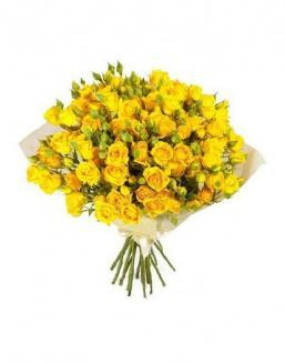 Bouquet of 51 yellow rose bushes | Delivery and order flowers in Aktobe