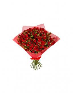 4Bouquet of 15 red spray roses | Delivery and order flowers in Aktobe