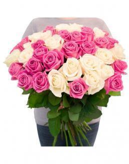 Bouquet of roses: white and pink | Delivery and order flowers in Aktobe