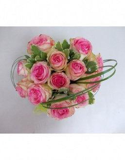 Gift Tenderness set of pink roses | Delivery and order flowers in Aktobe