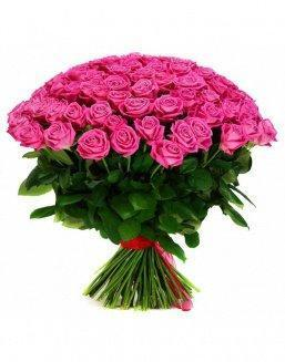 Bouquet 101 pink holland roses | Delivery and order flowers in Aktobe