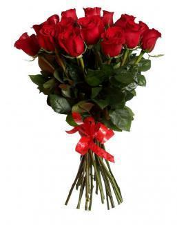 Bouquet of 15 red Dutch roses | Delivery and order flowers in Aktobe
