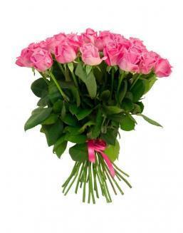Bouquet of 25 pink holland roses | Delivery and order flowers in Aktobe