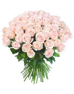 Bouquet of 51 pink Dutch roses | Delivery and order flowers in Aktobe