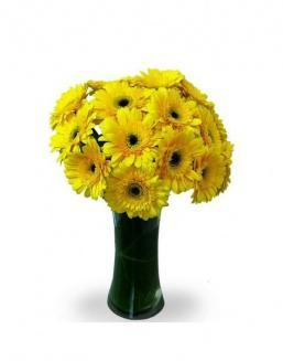 Bouquet of 15 yellow gerberas | Flowers to supervisor