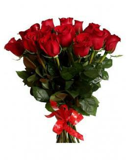 21 long red roses deluxe | Delivery and order flowers in Aktobe