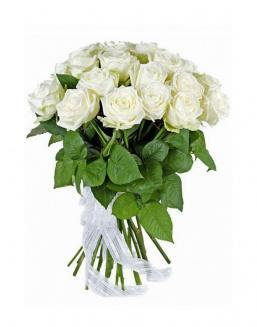 21 high elite white roses | Delivery and order flowers in Aktobe
