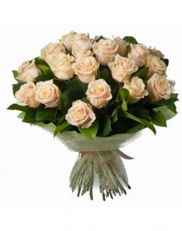 33 high elite cream roses | Delivery and order flowers in Aktobe