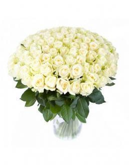77 high elite white roses | Delivery and order flowers in Aktobe